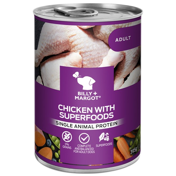 Billy And Margot Chicken Superfood Can Wet 395g
